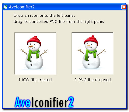 Ave Iconifier 2 - Конвертер PNG, ICO, BMP и т.д.
