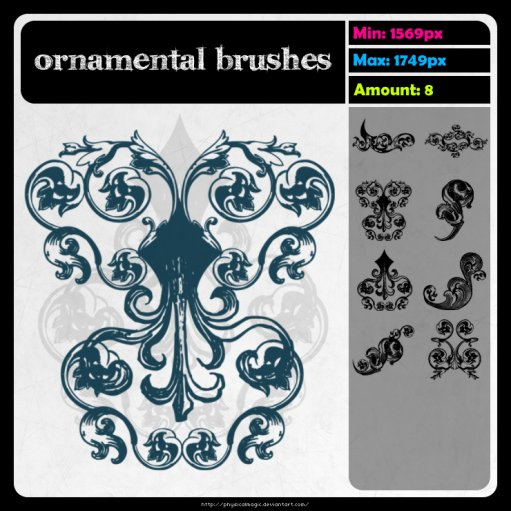 Ornamental brushes