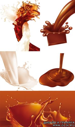 PSD templates - Chocolate and milk