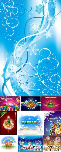 Christmas & New Year Vector