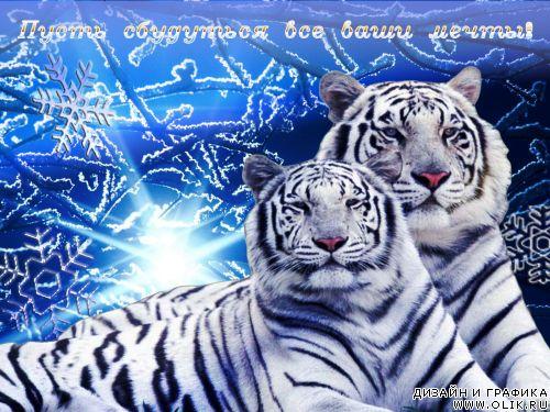 Картинки с днем рождения тигра, открытка