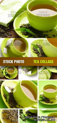 Stock Photo - Tea Collage