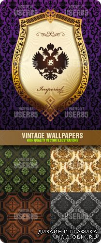 Stock Vector - Vintage Wallpapers