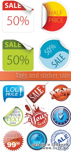 Tags and sticker sale