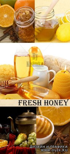 Stock Photo: Fresh honey