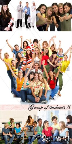 Stock Photo: Group of students 3