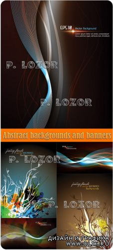 Abstract backgrounds and banners