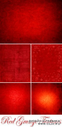 Stock Photo - Red Grunge Textures