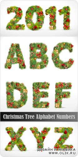 Christmas Tree Alphabet Numbers