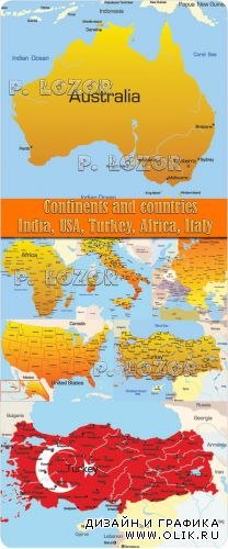 Maps Continents and countries
