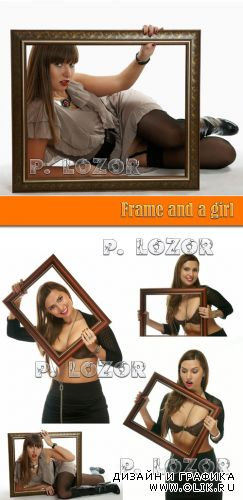 Frame and a girl