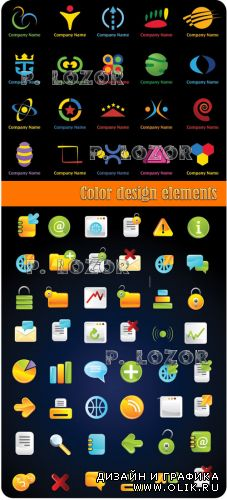 Color design elements and logo