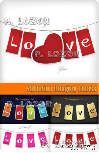 Valentine Hanging Labels