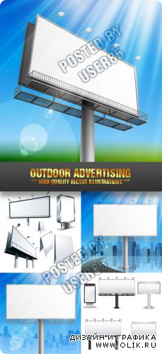 Stock Vector - Outdoor Advertising
