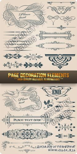Stock Vector - Page Decoration Elements