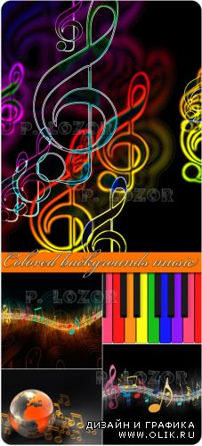 Colored backgrounds music