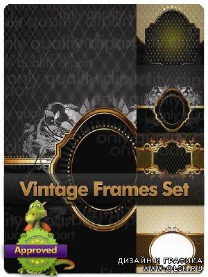 Vintage Frames Backgrounds - Vector Stock