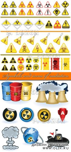 Symbols and icons of radiation