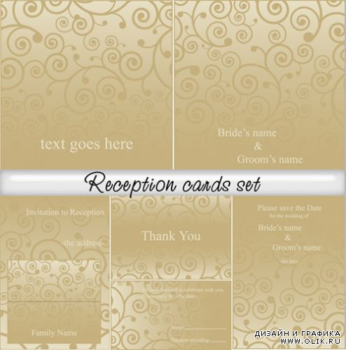 Reception cards set