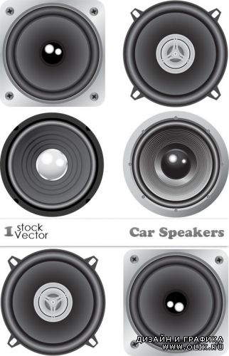 Car Speakers Vector