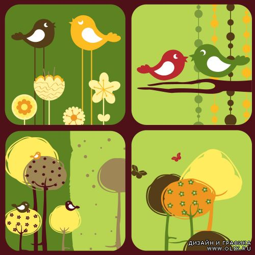 Funny birds and trees