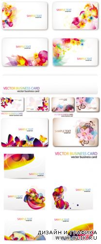 Colorful Business Cards Vector