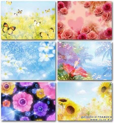 Collection of romantic backgrounds