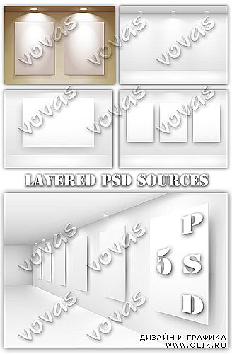 Layered PSD sources Blank Billboards