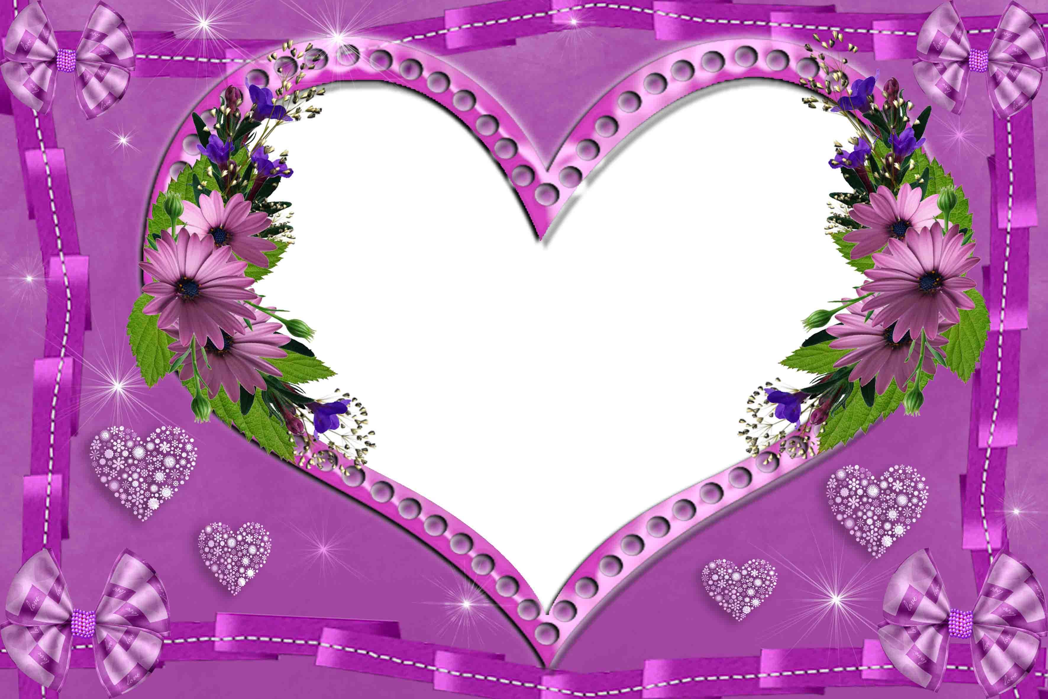 Открытки сердце рамки для