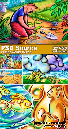 PSD Illustrations - Fresco works 5