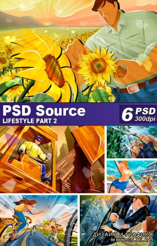 PSD Illustrations - Lifestyle 2