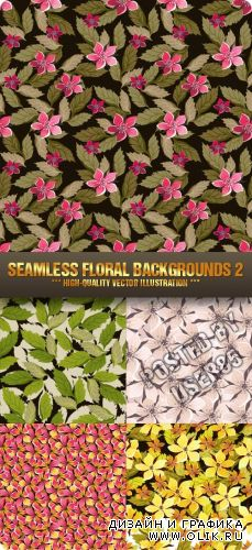 Stock Vector - Seamless Floral Backgrounds 2