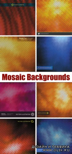Color Mosaic Backgrounds Vector