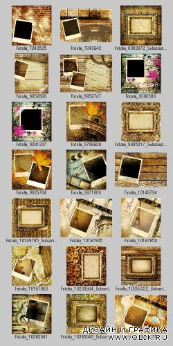 Stock Photo - Retro Backgrounds & Frames