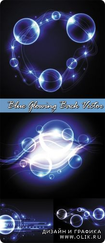 Blue Glowing Back Vector