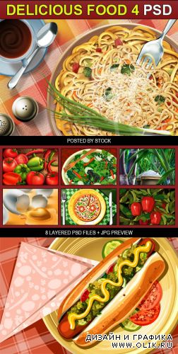 PSD Source - Delicious food 4