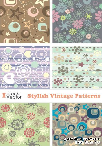 Stylish Vintage Patterns Vector