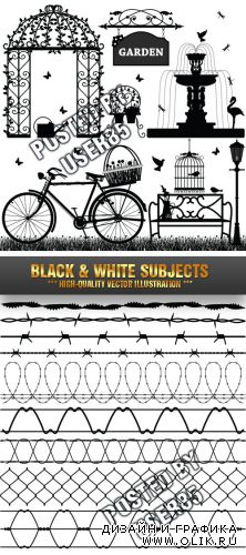 Stock Vector - Black & White Subjects