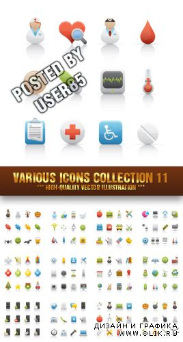 Stock Vector - Various Icons Collection 11