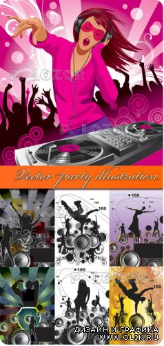 Vector party illustration