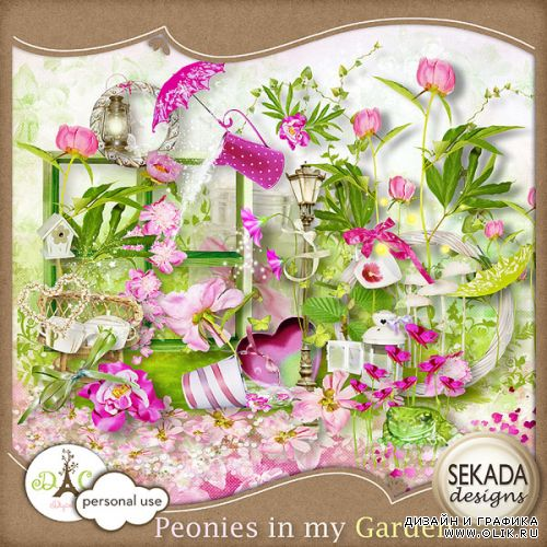 Scrap kit  Peonies On My Garden