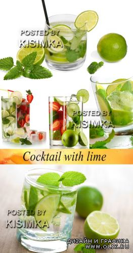 Stock Photo: Cocktail with lime