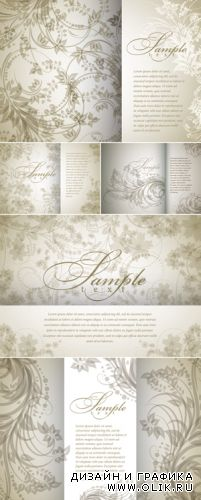 Vintage Floral Backgrounds Vector 4