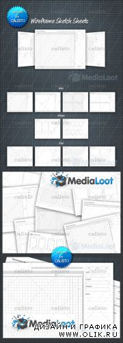 MediaLoot - Printable Wireframe Sketch Sheets