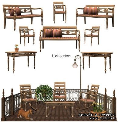A collection of furniture for the garden