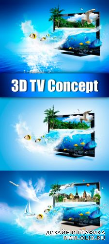Stock Photo - 3D TV Concept