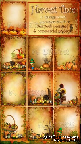 Harvest Time backgrounds