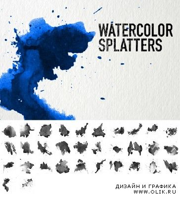 Watercolor Splatters brushes