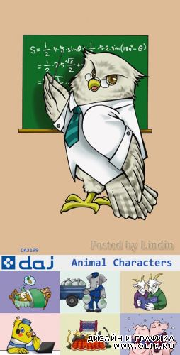 DAJ199 - Illustration Animal. Characters 02