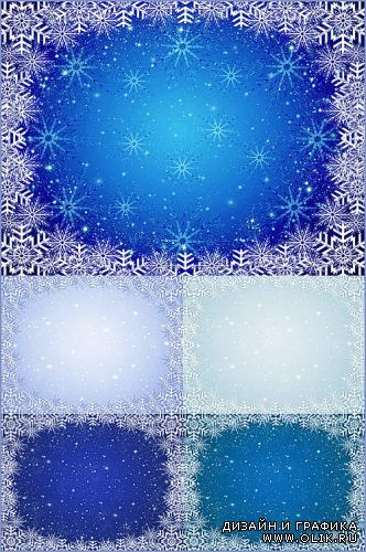 Winter backgrounds with frames snowflake 2